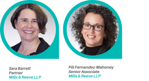 Sara Barrett and Pili Fernandez-Mahoney speaking for CIPD Manchester Branch on Mental Health and employment law